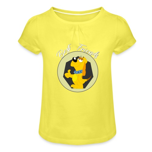 Best friends - Camiseta para niña con drapeado
