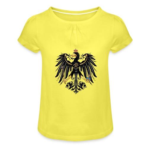 Preussischer Adler - Mädchen-T-Shirt mit Raffungen