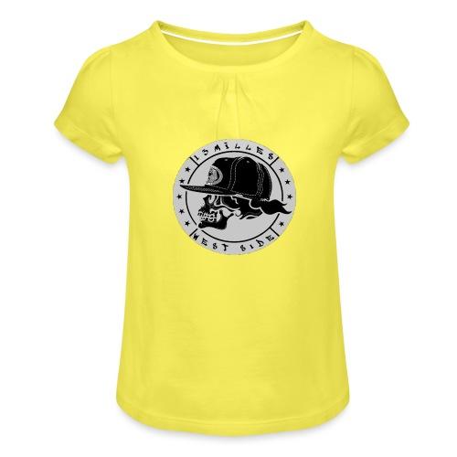 skull 13 milles noir et gris super design - T-shirt à fronces au col Fille