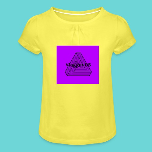 2018 logo - Girl's T-Shirt with Ruffles