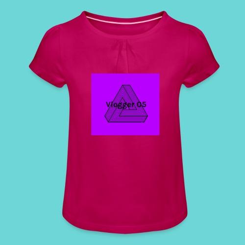 2018 logo - Girl's T-Shirt with Ruffles