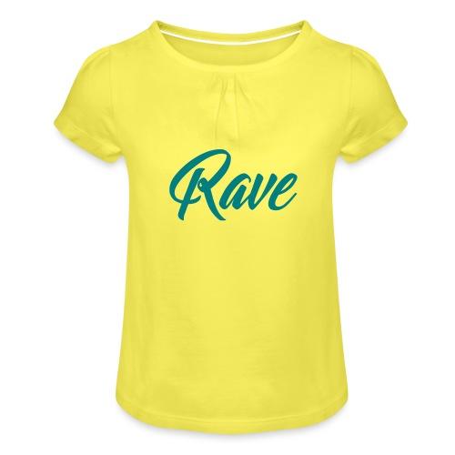 Rave - Mädchen-T-Shirt mit Raffungen