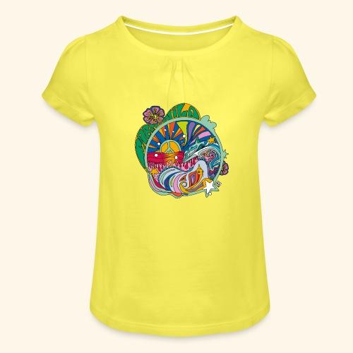 freenwild - Camiseta para niña con drapeado