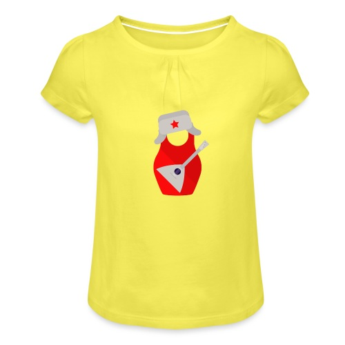 Matryoshka-Edition - Girl's T-Shirt with Ruffles