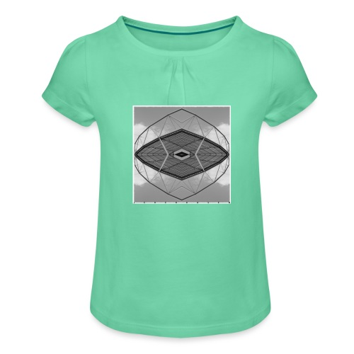Leverkusen #4 - Mädchen-T-Shirt mit Raffungen