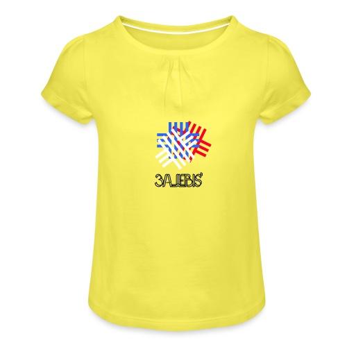 3ajebis' + - Mädchen-T-Shirt mit Raffungen