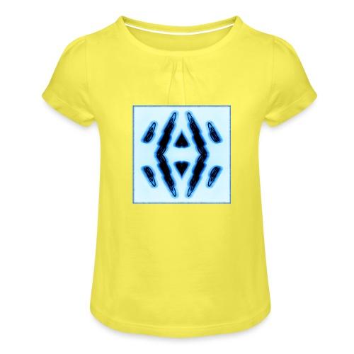 Lichtertanz #3 - Mädchen-T-Shirt mit Raffungen