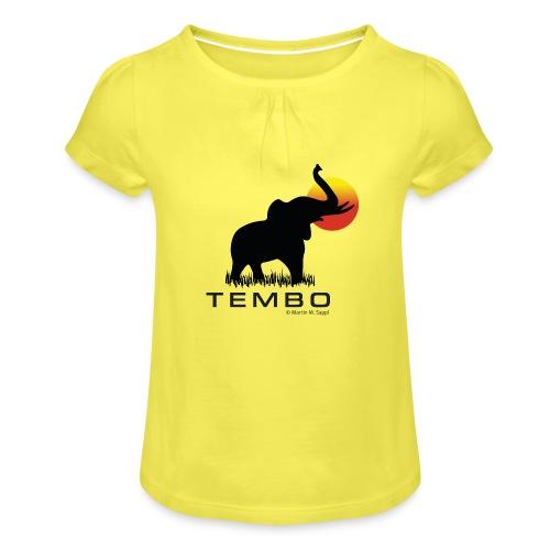 elephant - Tembo - Mädchen-T-Shirt mit Raffungen