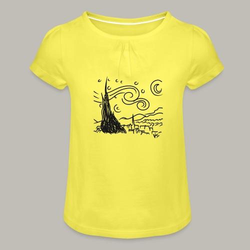 Little piece of van gogh - T-shirt à fronces au col Fille