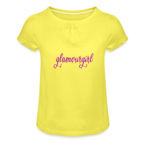 Glamourgirl dripping letters - Meisjes-T-shirt met plooien