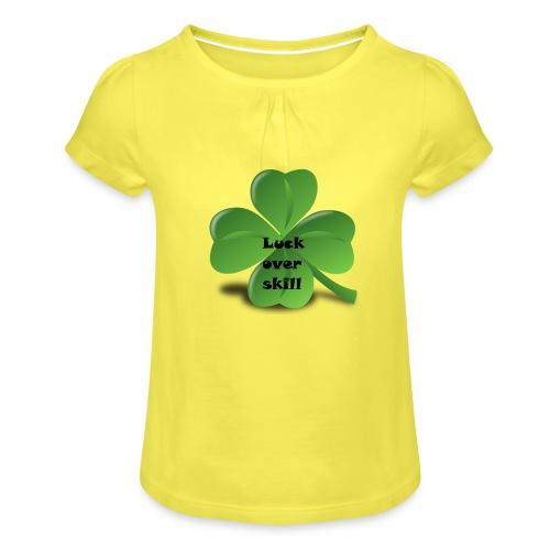 Luck over skill - Jente-T-skjorte med frynser