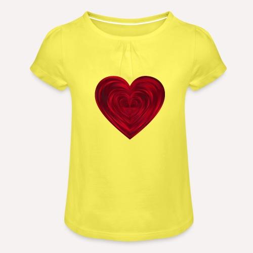 Love Heart Print T-shirt design - Girl's T-Shirt with Ruffles