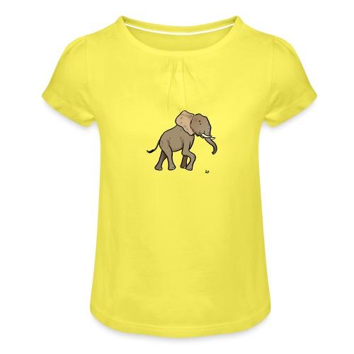 Éléphant d'Afrique - T-shirt à fronces au col Fille