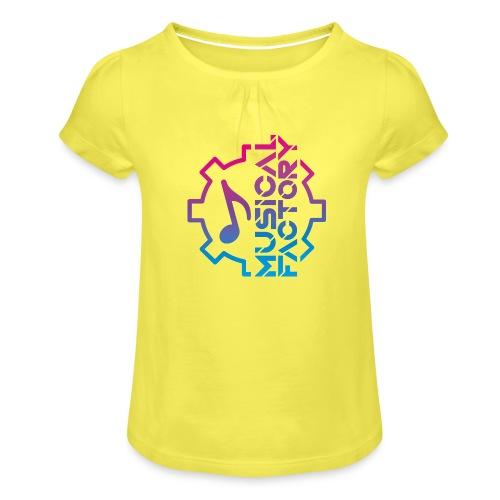 Musical Factory Marchio - Maglietta da ragazza con arricciatura