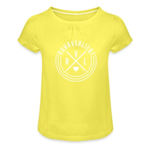 Gerechter Fritz - Mädchen-T-Shirt mit Raffungen