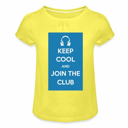 Join the club - Girl's T-Shirt with Ruffles
