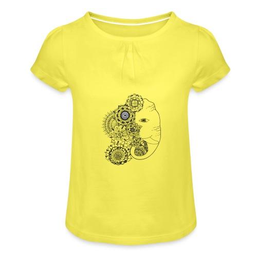 Mandala de Elefante - Camiseta para niña con drapeado