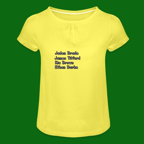 Glog names - Girl's T-Shirt with Ruffles