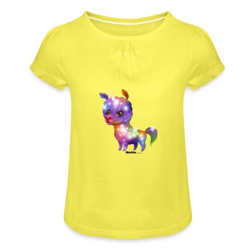 Lamacorn - Mädchen-T-Shirt mit Raffungen