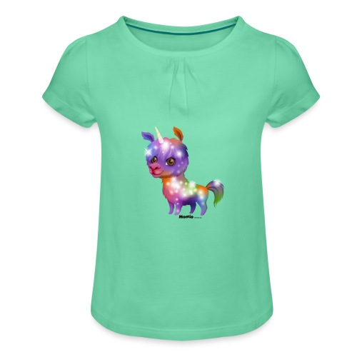 Llamacorn - Meisjes-T-shirt met plooien