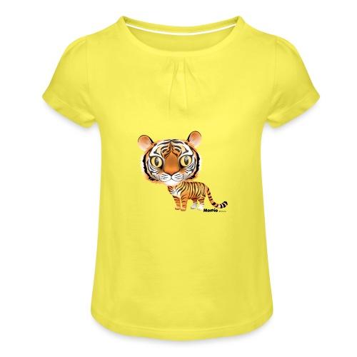 Tijger - Meisjes-T-shirt met plooien