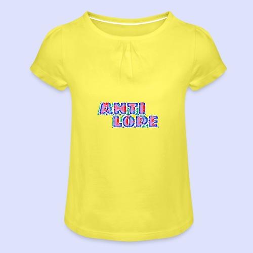 Antilope 006 - Meisjes-T-shirt met plooien