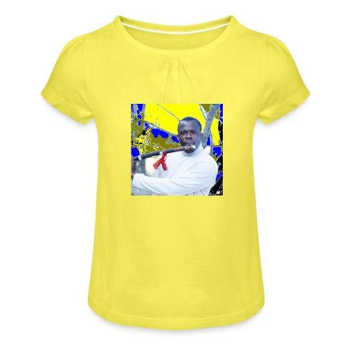 Shaka saxo - T-shirt à fronces au col Fille