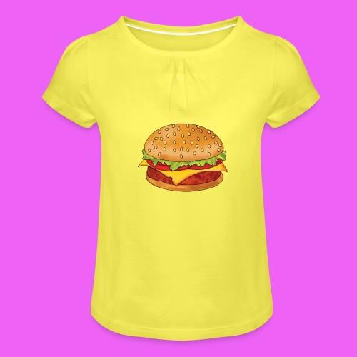 hamburguesa - Camiseta para niña con drapeado