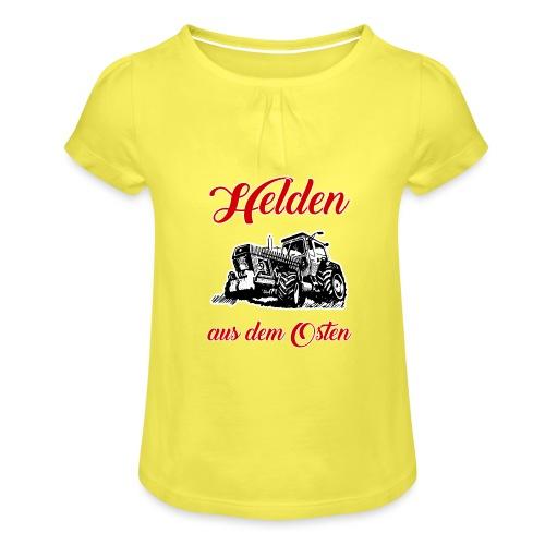 Helden aus dem Osten - Mädchen-T-Shirt mit Raffungen