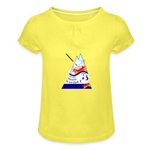 Logo colori - Maglietta da ragazza con arricciatura