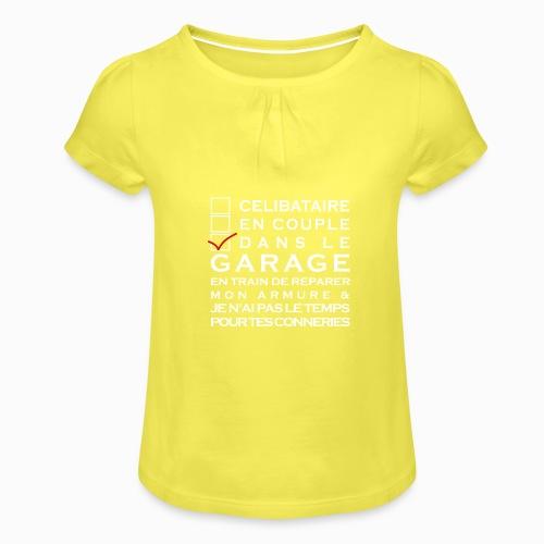 Celibataire en couple etc - T-shirt à fronces au col Fille