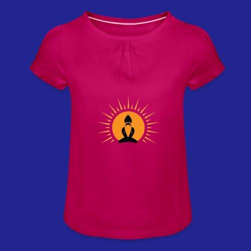 Guramylife logo black - Girl's T-Shirt with Ruffles