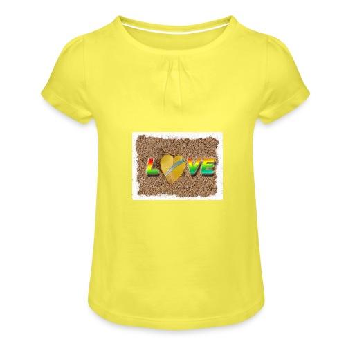 love,madinina - T-shirt à fronces au col Fille