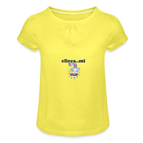 cliccami - Maglietta da ragazza con arricciatura