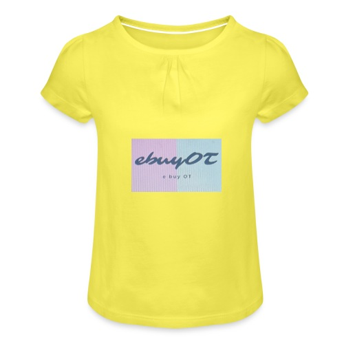 ebuyot - Maglietta da ragazza con arricciatura