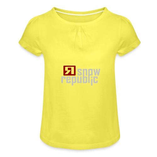 SNOWREPUBLIC 2020 - Meisjes-T-shirt met plooien
