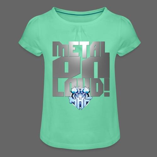 metalonloud large 4k png - Girl's T-Shirt with Ruffles