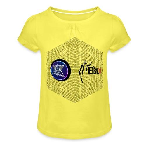 disen o dos canales cubo binario logos delante - Girl's T-Shirt with Ruffles
