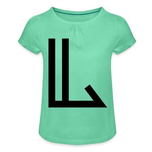 L - Girl's T-Shirt with Ruffles