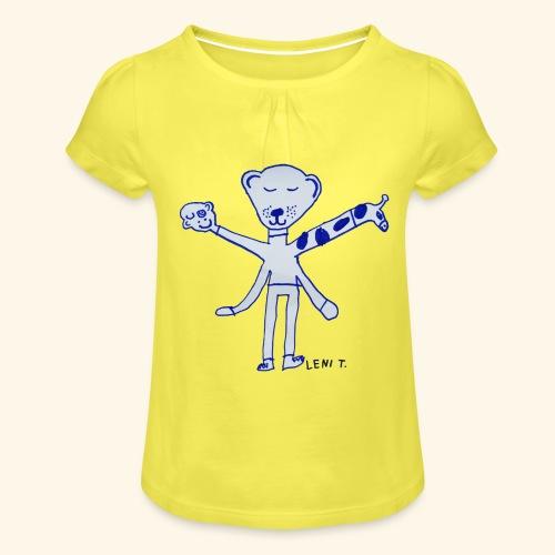 LeniT Teddy With a Twist - Tyttöjen t-paita, jossa rypytyksiä