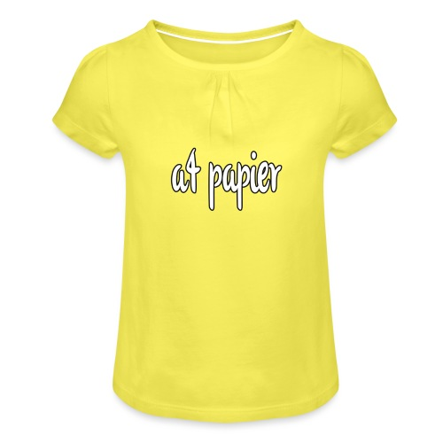 A4Papier - Meisjes-T-shirt met plooien