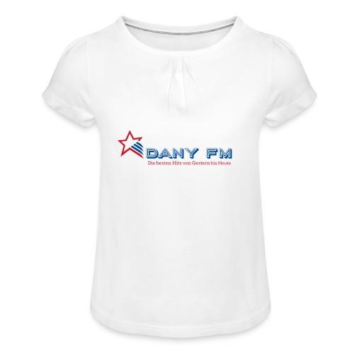 400dpiLogo - Mädchen-T-Shirt mit Raffungen