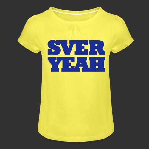 SVERYEAH GulBlå - T-shirt med rynkning flicka