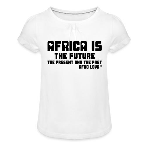 Africa is - Noir - T-shirt à fronces au col Fille
