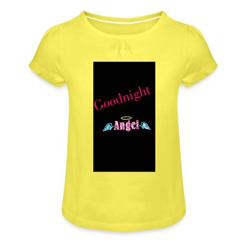 goodnight Angel Snapchat - Girl's T-Shirt with Ruffles