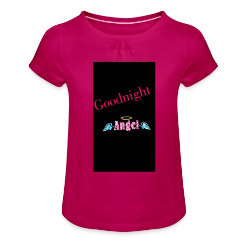 goodnight Angel Snapchat - Girl's T-Shirt with Ruffles