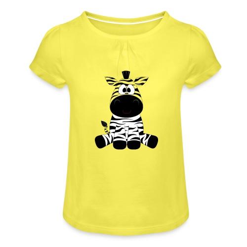 Zebra - Meisjes-T-shirt met plooien