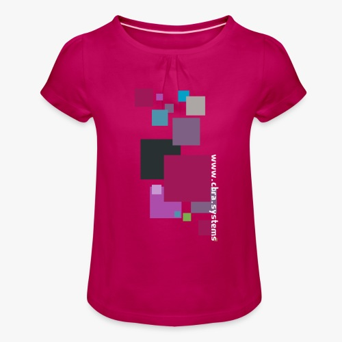 ontwerp t shirt png - Girl's T-Shirt with Ruffles