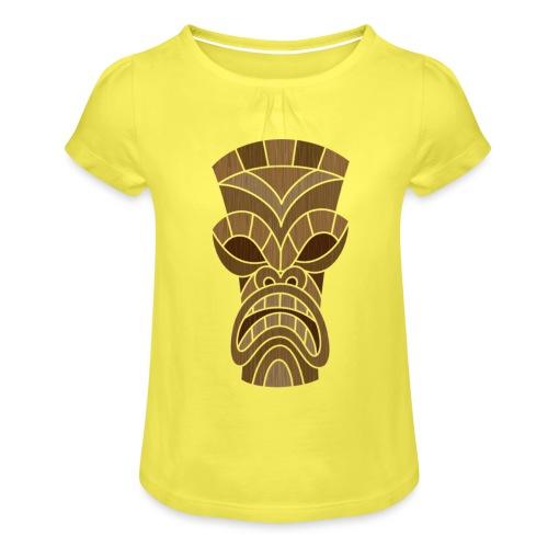 logo2 - Meisjes-T-shirt met plooien