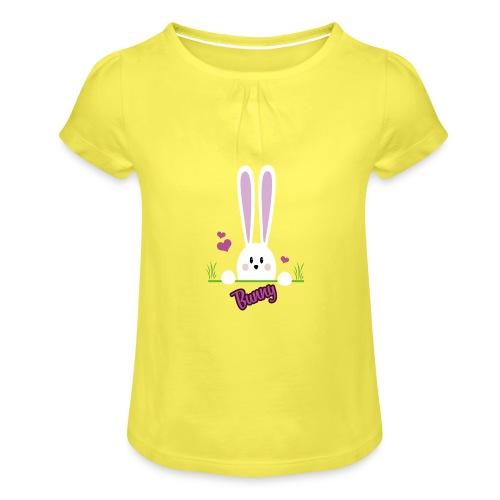 bunny girl - Mädchen-T-Shirt mit Raffungen